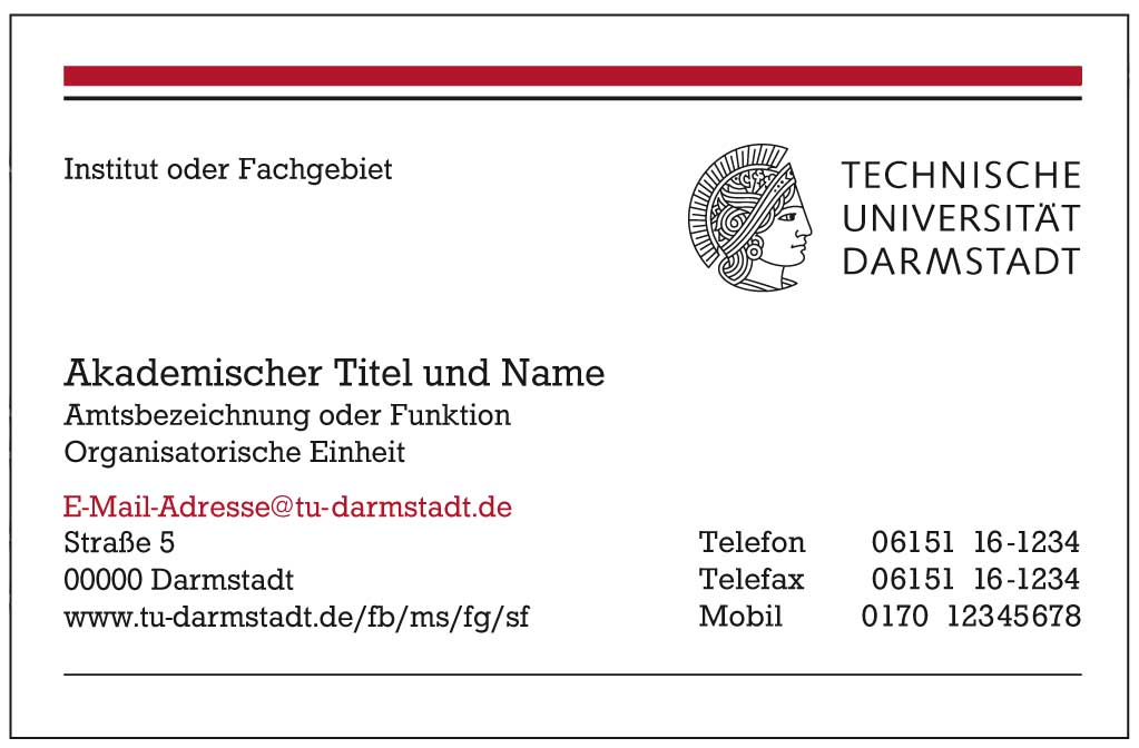 Arbeitsmittel Zum Corporate Design Technische Universität Darmstadt